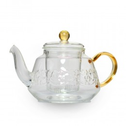"""Стеклянный чайник """"Золото"""""""