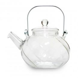 """Прозрачный стеклянный чайник """"Волна"""""""