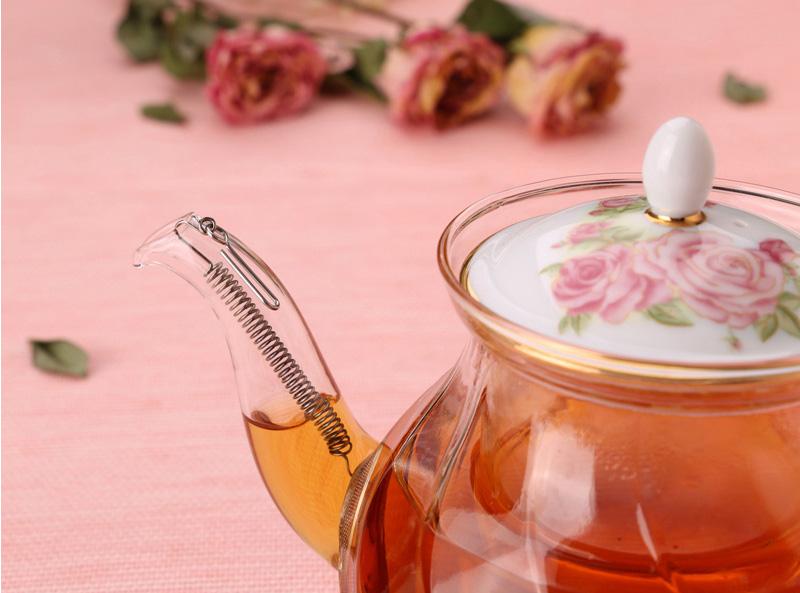 Чайник Rose с подставкой