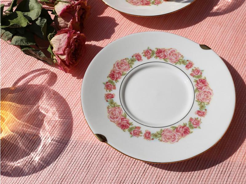 Чашка с блюдцем Rose