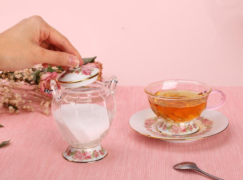 Сахарница с ложкой Rose